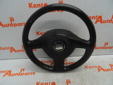 SEAT LEON CUPRA 2002 3 SPOKE LEATHER STEERING WHEEL & AIRBAG *FREE UK P&P*