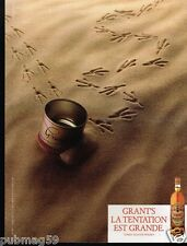 Publicité advertising 1986 Scotch Whisky Grant's