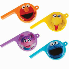 SESAME STREET PARTY WHISTLES (12) ~ Birthday Supplies Favors Noisemakers Plastic