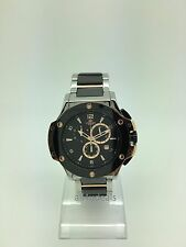 Mens Oniss Black Ceramic Stainless Steel Band Sapphire Chronograph Watch ON612