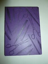 PURPLE ECCOLO FAUX LEATHER OFFICE SUPPLIES EMBOSSED LINED JOURNAL