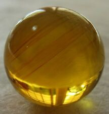 Ref.# 735- Dominican Green Amber natural round sphere bead 15.7 mm( 2.1 g)