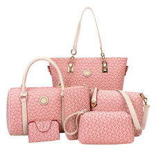 Womens Designer Handbag Set PU Leather Shoulder Messenger Tote Purse Lady Bag