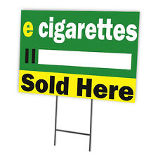 E-CIG FULL COLOR DOUBLE SIDED SIDEWALK SIGNS