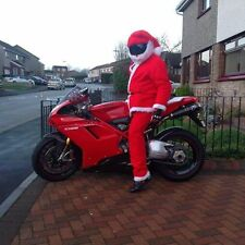 MOTORBIKE FUNNY HEEDS CRAZY CRASH  HELMET COVERS MOTORCYCLE  COVER SANTA HAT