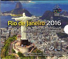 NEW!!! Euro SLOVACCHIA 2016 in Folder Ufficiale Olimpiadi Rio de Janeiro NEW!!!