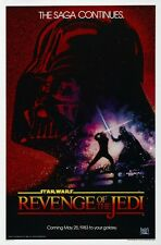 Revenge of the Jedi POSTER  - AMAZING & RARE IMAGE  - LARGE -  Original Title