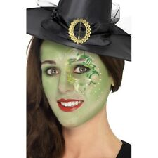 Pretty Witch Make Up Kit w Face Paints Tattoo Gem Fancy Dress Halloween Costume