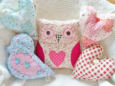 Owl Bird & Heart Cushion Kit Patchwork Sewing Craft Kit Sewintocrafts GREAT GIFT