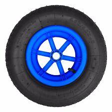 """BLUE SPOKED 16"""" Pneumatic Wheelbarrow Wheel Tyre 4.80/4.00 - 8"""