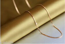 24k gold plated box chain for pendant set 17.5 inch c-1