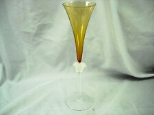 VINTAGE RARE VERSACE BY ROSENTHAL MEDUSA LUMIERE CHAMPAGNE FLUTE AMBER