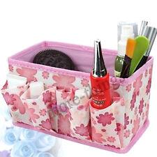 Multifunción de maquillaje plegable cosméticos Caja de almacenamiento Flor