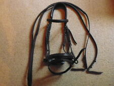 PASSIER AQUARIUS CRANK FLASH Noseband Bridle + metà redini in gomma marrone taglia piena