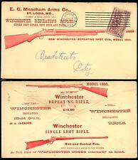 "E.C. MEACHAM ARMS Co. WINCHESTER ""RIFLES & SHOTGUNS"" ADVT COVER 1894 BT2866"
