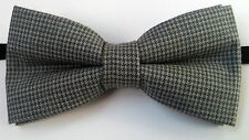 "Trabucco grey colour tweed party pre-tied ""Wow bow ties"" bow tie"