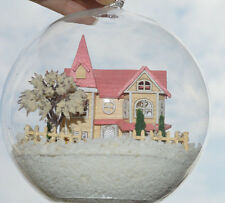 Dollhouse Miniature Kit  in Mini Glass Ball w light, (B-009)- Lolita's Christmas