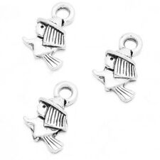 50pcs New Sale Antique Silver Riding Broom Witch Alloy Charms Jewelry Pendant LC