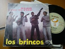 "7"" LOS BRINCOS MEJOR I TRY TO FIND SPAIN 1966 EX"