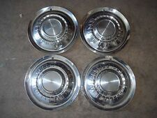 "1955 55 Plymouth Hubcap Rim Wheel Cover Hub Cap 15"" OEM USED SET 4"