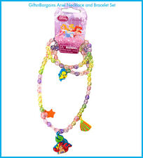 Disney Princess Ariel Little Mermaid Jewellery Necklace Bracelet Set RRP:$12.95