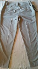 Women's Adidas Light Gray Athletic Golf Pants Size 10 NWT