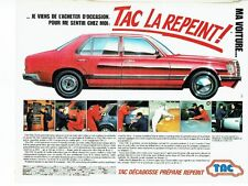 PUBLICITE ADVERTISING 0217  1984   garage TAC  décabosse repeint les voitures