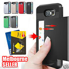 New Samsung Galaxy Note 5 Credit Case Slide Armor Dual Layer Heavy Duty Cover
