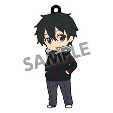 Sword Art Online Kirito Street Clothes Pikuriru Rubber Phone Strap NEW