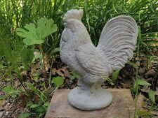 "10"" Tall Cement Rooster Chicken Garden Art Statue Concrete NICE!!"