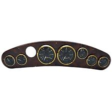 Rinker 242 / 272 Woodgrain Plastic Boat Dash Panel with Gauges w/ Wires 41001