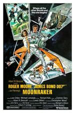 "JAMES BOND - MOONRAKER - MOVIE POSTER 12"" X 18"" ROGER MOORE"