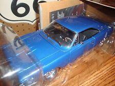 "1""18 ertl authentics 1968 dodge charger r/t matco  blue rare"