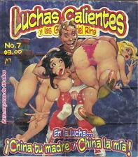 "LUCHAS CALIENTES ""WRESTLING"" ADULT mexican comic SEXY GIRLS SPICY #7"