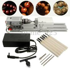 Mini Lathe Beads Machine Woodworking DIY Lathe Standard with Power DC 24V-36 V