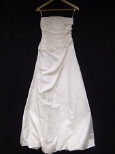 Flawed Monsoon Wedding Dress 8 with Tags - Cream with Ruched Bodice (239J)