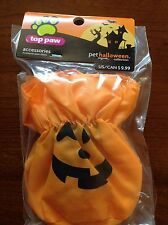 NEW 4 Top Paw Halloween Pumpkin Booties shoes boots Foot Covers Small PETS DOG