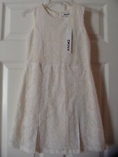 NWT GIRLS DKNY IVORY LINEN  DRESS SIZE 8 MEDIUM