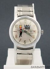 Vintage wind-up Smith's Food King Advertising Character Watch