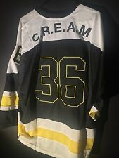 New Size Medium Wu Tang Clan Hockey Jersey C.R.E.A.M. #36 Chambers Pittsburgh