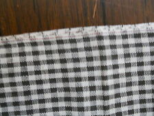 """ANTIQUE PRIMITIVE BLACK AND WHITE TINY CHECK FABRIC - 59"""" LONG X 31 1/2"""" WIDE"""