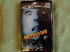 """RARE! VHS """"DAMNATION"""" Carolyn COURAGE, James AUBREY, Sarah KELLER, John NOLAN"""