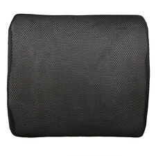 A#S0 Memory Foam Lumbar Back Support Cushion Pillow for Home Car Auto Seat Black