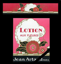 French Vintage Perfume Label & Band Art Deco Lotion Aux Fleurs Jean Artaud Paris