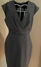 NWT J Crew Women's 6P Super 120's Wool V-Neck Dress Gray $178 #F6094 Fall 2016