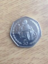 Isle of Man 1997 TT 50p Circulated coin.
