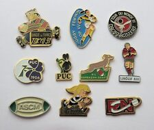 Collection PIN's RUGBY - lot de 10 attaches - tres belles