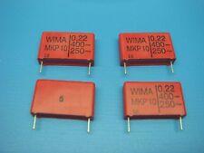 (4) WIMA MKP10 0.22/400/10 MKP10 0.22uF 400V 10% POLYPROPYLENE CAPACITOR