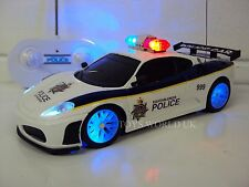POLICE FERRARI RADIO REMOTE CONTROL CAR POLICE SIRENS & FLASHING LIGHTS