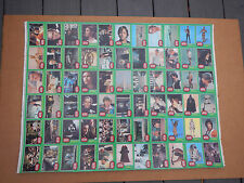 RARE Vintage Star Wars ERROR UNCUT SHEET ANTHONY DANIELS C3PO 1977 TOPPS XRATED